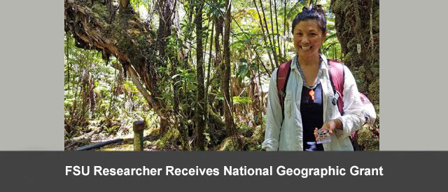 FSU Researcher Receives National Geographic Grant